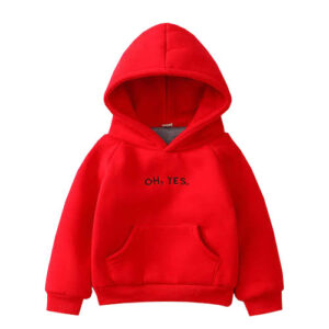 Red Casual Hoodie for girls.