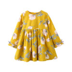 yellow flowered top for girls
