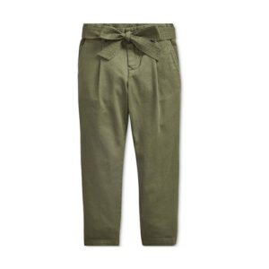 Twill green pant for girls