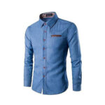 Blue Denim Casual shirt for men