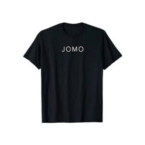 Black T-Shirt with Text Logo for Men
