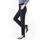 Black cotton pant for women