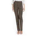 Brown cotton pants for women
