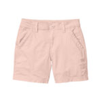 Light pink Cotton shorts for women