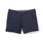 Navy Blue Cotton shorts for women