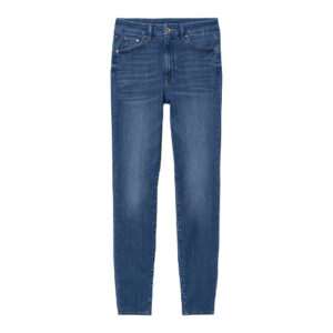 Blue Denim plain Pant for women
