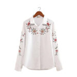 White printed Casual shirt for women