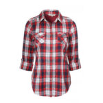 Red, White & black check casual shirt