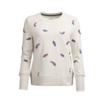 Sweatshirt with feather design for women