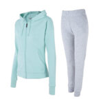 Light Green & grey tracksuit for women